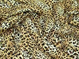 Animal Print Polyester Chiffon Kleid Stoff Golden