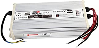 JMWaaBong Switch Mode Power Supply 400W 12V 33A Constant Voltage LED Driver 12VDC Rainproof Outdoor 110V AC to DC 12 Volt Transformer Converter (FX400-H1V12)
