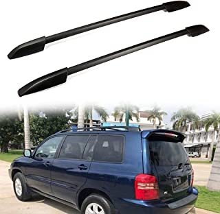 ROADFAR Roof Rack Side Rails Aluminum Top Side Rail Carries Luggage Carrier Fit for 2008-2013 Toyota Highlander Baggage Roof Side Rail with Lock