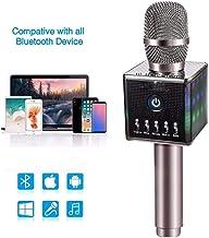 Micrófono Inalámbrico De Karaoke H8 Altavoz Con Luz Led Micrófono De Karaoke Con Micrófono Micrófono De Karaoke Micrófono Inalámbrico Y Luces Led Adaptarse Para Ios Android Pc Smart Tv Home Ktv