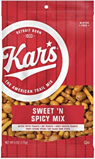 Kar's Nuts Sweet 'N Spicy Trail Mix Snacks, 6 oz Individual Single Serve Bags (Pack of 12), 6 Ounce (Pack of 12)