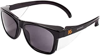 Kleenguard Maverick Safety Glasses with Intergrated Side Shields (1 Pair) (49311 Smoke Anti-Fog Lens with Black Frame)