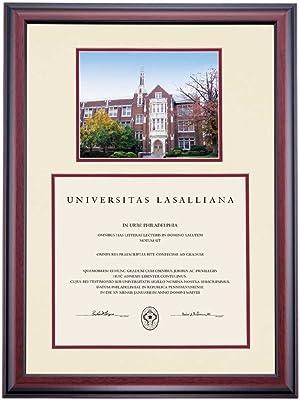 Campus Linens La Salle Explorers Diploma Frame Ivory Maroon Matting Photograph