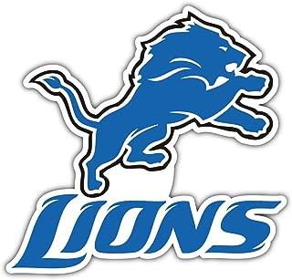 qualityprint Detroit Lions Logo NFL Sport Decor Bumper Vinyl Sticker 12'' X 12''