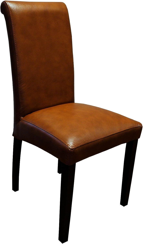 Antic Braun Glanz Echtleder Stühle   Arthur   Lederstühle Echt Leder  Antique Tabac   Esszimmerstuhl Lehnstuhl Rindsleder Volleder Esszimmerstühle