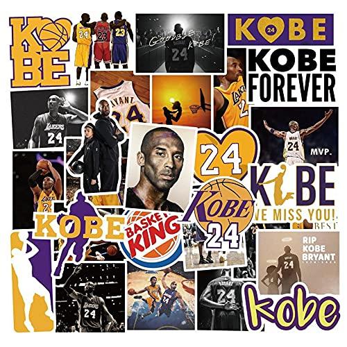 MBGM 100 unids estrella de baloncesto Kobe pegatinas conmemorativas taza de agua carro coche nevera graffiti teléfono pegatinas