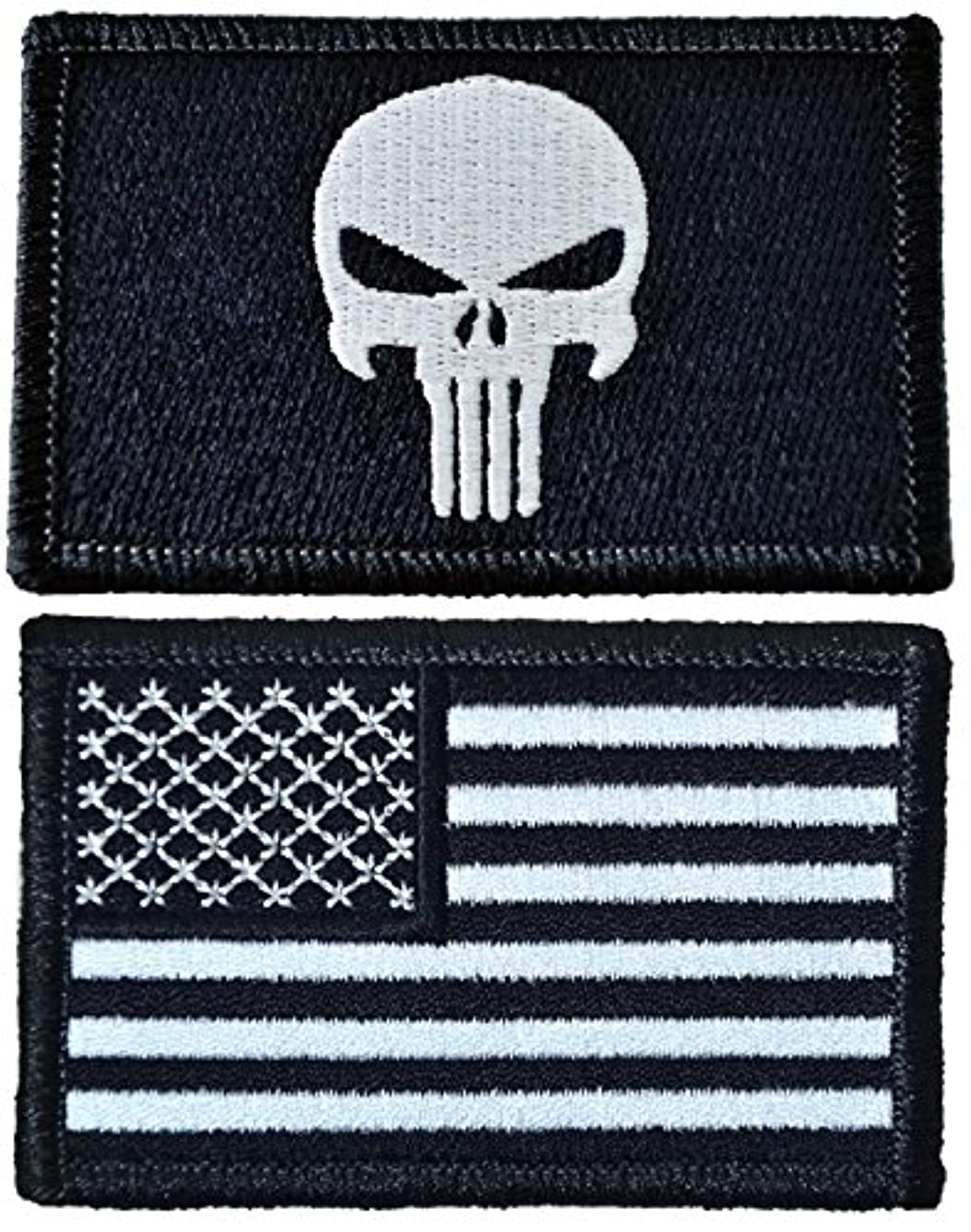 Tactical Morale Operator Skull Patch and USA Flag Patch 2
