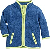 Schnizler Unisex Baby-Jacke aus Fleece, atmungsaktives und hochwertiges Jäckchen mit Reißverschluss, Blau (Blau 7), 68