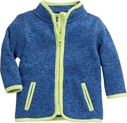 Schnizler Strick-Fleece-Jacke Blouson, Bleu (Blau 7), 56 Mixte bébé