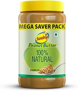 Agro Tech Foods Sundrop Peanut Butter 100% Natural-Crunchy Jar 924 g