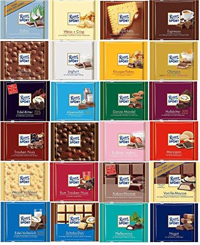 Ritter Sport Chocolate Gift Set 24 X 100g