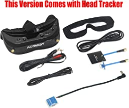FANCYWING 2019 Newest Version! Aomway Commander V1S Diversity 3D 64CH 5.8G FPV Goggles w/Head Tracker Support DVR