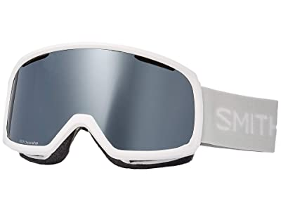 Smith Optics Riot Goggle (White Vapor/Chromapop Sun Platinum Mirror/Yellow) Snow Goggles