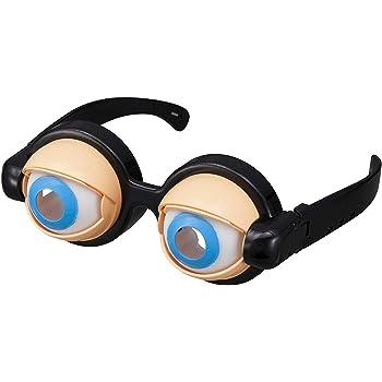 おもしろグッズ クレイジーアイズ パーティーグッズ 面白いメガネ おかしいパーティーメガネ(箱入り)