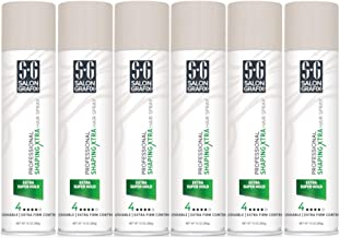 Salon Grafix Profession Shaping Hairspray, Extra Super Hold 4, 10 Oz (Pack of 6)