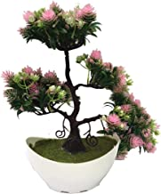 FOKIYA Decorating Lives Artificial Bonsai Welcoming Green Plant Pine Trees Plastic Potted Decoration