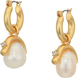 12K Soft Polish Gold/Crystal/Ivory Fresh Water Pearl