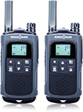 Walkie Talkies for Adults Long Range FRS Two-Way Radios Rechargeable 22CH VOX with Rechargeable Battery for Outdoor Hiking Camping Socotran T80 Ham Radio Black 2 Pack Two Way Radios with Falshlight