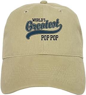 CafePress World's Greatest Pop Pop Cap Baseball Cap