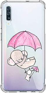 Oihxse Silicona Funda con Samsung Galaxy S20 TPU Flexible Suave Transparente Protector Estuche Airbag Esquinas Reforzadas Ultra-Delgado Elefante Patrón Anti-Choque Caso (D1)