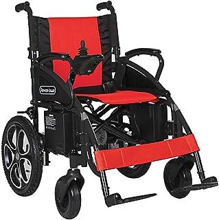 OSL Silla de ruedas eléctrica, Plegable Plegable Power Compact Mobility Aid Wheel Chair, Silla de ruedas eléctrica ligera y plegable, Silla de ruedas motorizada Plegable OSL