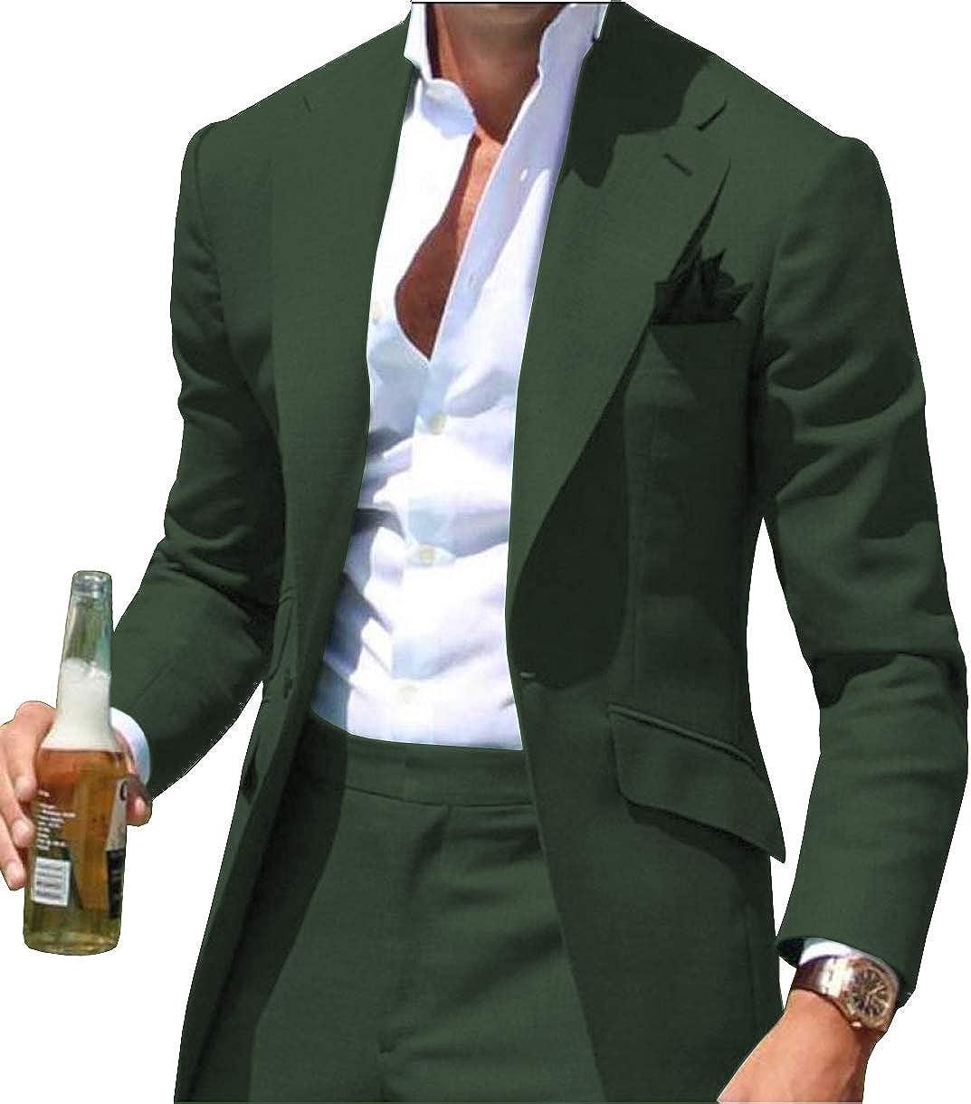 List price Men's Two Piece Quantity limited Slim Fit Casual Suit Bridegroom T Men One Button