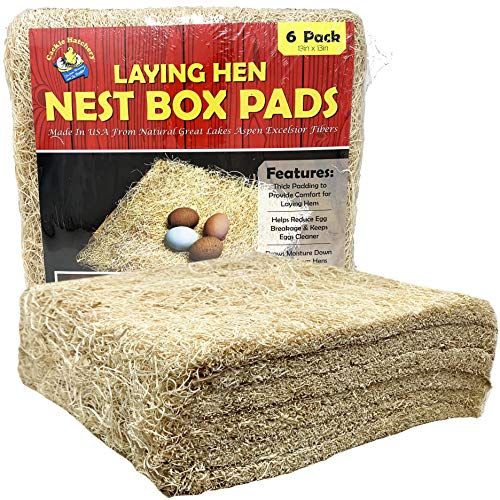 Cackle Hatchery Laying Hen Nest Box Pads - 13' x 13' (6 Pack)