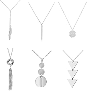 Best long triangle necklace Reviews