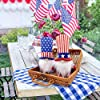 Patriotic Gnome Veterans Day American President Election Decoration Uncle Sam Tomte 4th of July Gift Stars and Stripes Nisse Handmade Scandinavian Ornaments Kitchen Tiered Tray Decorations Set of 2 #3