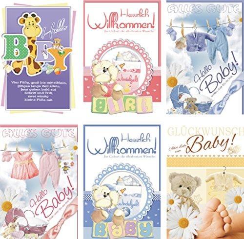 Lot de 25 cartes de vœux pour la naissance - 31-6530