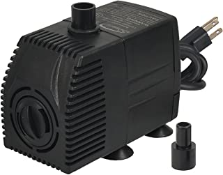 Simple Deluxe 160 GPH UL Listed Submersible Pump with 6' Cord, Water Pump for Fish Tank, Hydroponics, Aquaponics, Fountains, Ponds, Statuary, Aquariums & Inline