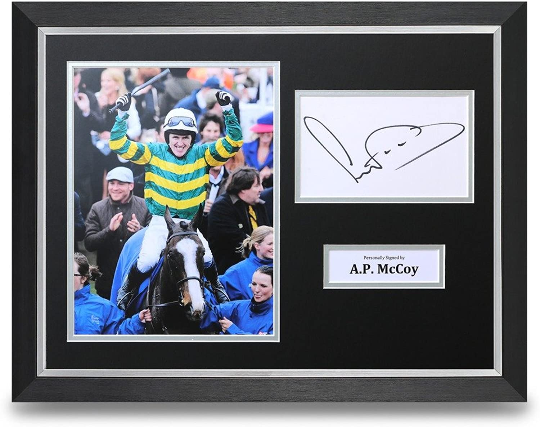 Up North Memorabilia Tony AP McCoy Signed 16x12 Framed Photo Display Horse Racing Jockey Autograph