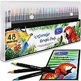 Best Coloring Brush Pen Sets - Premium Watercolor Real Brush Pens by Sophie's Art Review