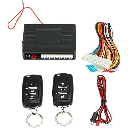 Kit de verrouillage de porte central universel MASO avec t/él/écommande et 2 t/él/écommandes de rechange
