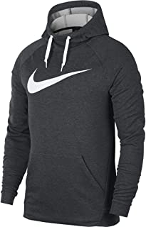 Men's Hoodie Pull-Over Swoosh, Charcoal Heathr/White, Large-T