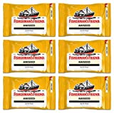 Fisherman's Friend Aniseed Lozenges 25g, (Pack of 6)