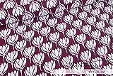 Mamasliebchen Jersey-Stoff Tulip #Mauve (0,5m) Tulpen