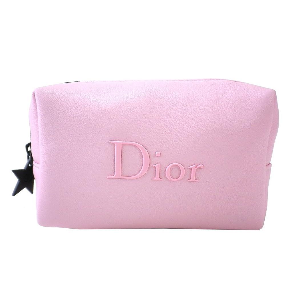 国際決定主婦Dior ディオール ポーチ 小物入れ 革 桃 ピンク チャーム 星 スター ロゴ 化粧 メイク コスメ