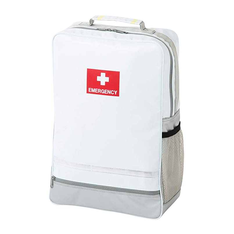 港マガジンモロニック非常持出袋 plus+ 非常持出袋(単品)の上位モデル 玄関やリビングにも違和感なく置けるスタイリッシュな防災リュック (ホワイト)