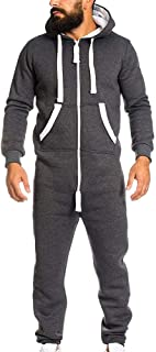 Unisex Jumpsuit One-Piece garInverlee Ment Non Footed Pajama Playsuit Blouse Hoodie