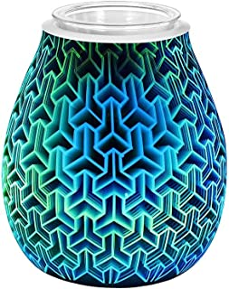 Airwick aroma olja diffuser 3D fyrverkeri glas vas form luftfuktare med 7 färger LED nattlampa arom eterisk olja diffuser ...