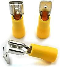 DZS Elec 30pcs A.W.G 12-10 Crimp Connector Kit PVC Semi-Insulated Piggy Back Spade Quick Splice Male/Female Wire Terminals Yellow