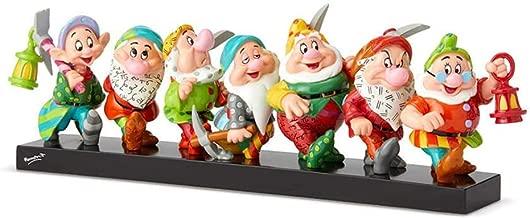 "Enesco Seven Dwarfs on Log"" from Disney by Britto Line Figurine 5.71 Inches Multicolor"