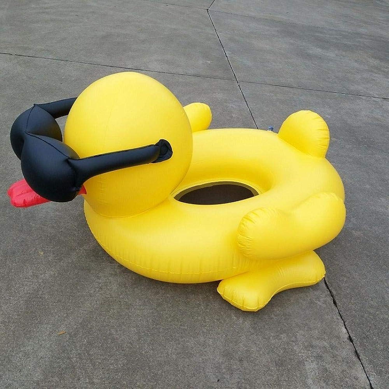 genuina alta calidad GLJWYFYG Rueda Flotante Inflable Inflable Inflable de ruibarbo Flotante al Aire Libre con Hamaca de Agua al Aire Libre Amarillo  diseños exclusivos