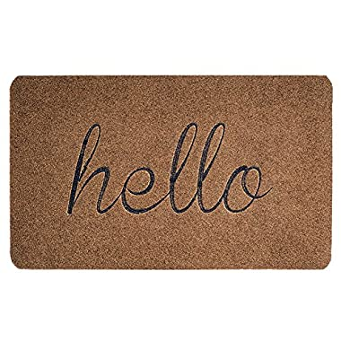 "BIGA Front Door Mat: Premium Entrance Welcome Mat| Sturdy, Durable, Biodegradable 30""X18"" Indoor/Outdoor Hello Mat