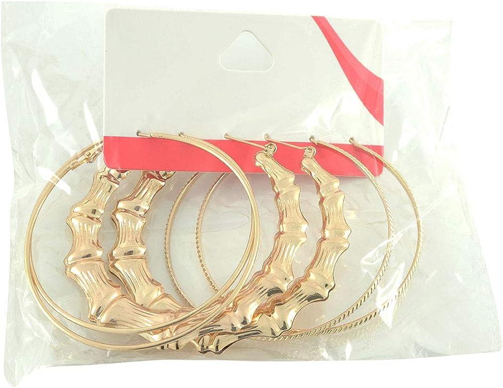 Items 4 U! Gold Big Hoop Earrings Set, 3 Pairs