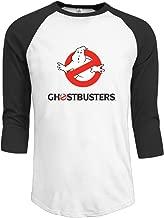 MeGo Shine Men's Ghostbusters Logo 3/4 Sleeve T Shirt