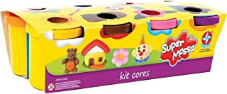 Massinha Super Massa Kit Cores Brinquedos Estrela