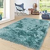 alfombra turquesa dormitorio