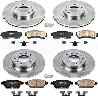 Power Stop KOE200 Front and Rear Brake Kit- Stock Replacement Brake Rotors and Ceramic Brake Pads
